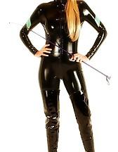 Blonde cop in latex, pic #8