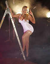 Horny white lingerie, pic #4