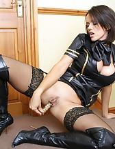 Naughty air hostess, pic #14
