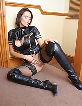 Naughty air hostess, pic #7