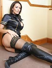 Naughty air hostess, pic #10
