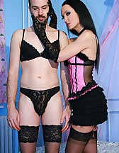 Kinky play with a crossdresser, pic #4