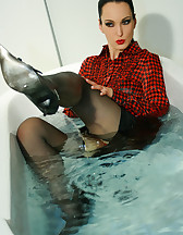 Horny and soaking wet secretary, pic #5