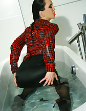 Horny and soaking wet secretary, pic #8