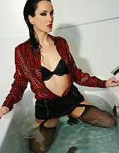 Horny and soaking wet secretary, pic #10