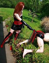 Mature redhead dominates slave, pic #12