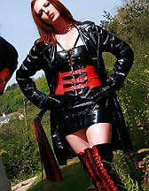 Mature redhead dominates slave, pic #3