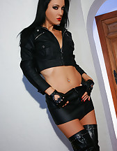I love my vibrator and leather, pic #4