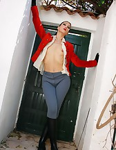 Fucking the stable boy in jodphurs, pic #8