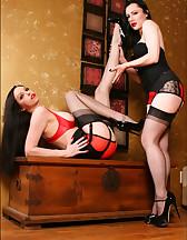 Lesbians in lingerie, pic #3