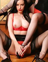 Lesbians in lingerie, pic #4