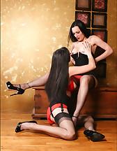Lesbians in lingerie, pic #5
