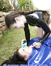 Inflatable latex body bag, pic #2