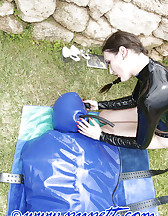 Inflatable latex body bag, pic #7