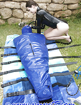 Inflatable latex body bag, pic #8