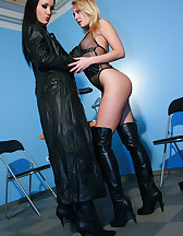 Slave girl gets interviewed for job, pic #4