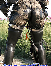 Spring walk in rubber, pic #1