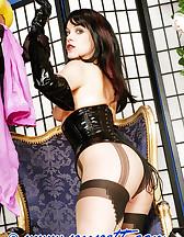 Bondage with stockings, pic #8