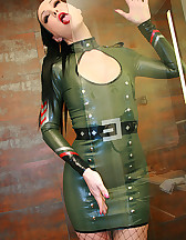 Sexy in military latex, pic #11