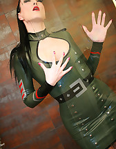 Sexy in military latex, pic #12