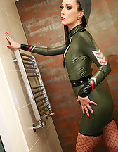 Sexy in military latex, pic #13