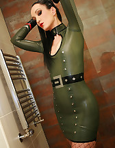 Sexy in military latex, pic #14