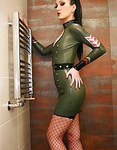 Sexy in military latex, pic #2