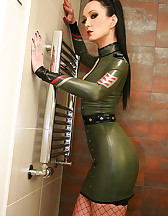 Sexy in military latex, pic #4