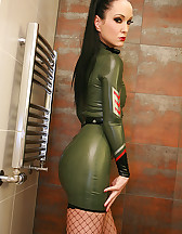 Sexy in military latex, pic #5
