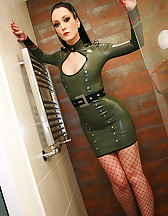 Sexy in military latex, pic #6