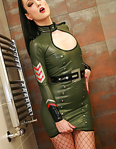 Sexy in military latex, pic #7