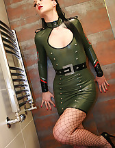 Sexy in military latex, pic #9