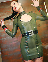 Sexy in military latex, pic #10