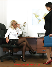 Horny office bitches, pic #3