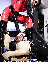 Latex stock bondage game, pic #6