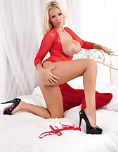 Red Lingerie And Killer Heels, pic #12