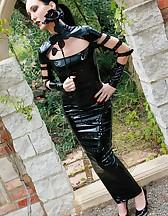 Dark Princess in shiny black PVC, pic #2