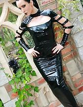 Dark Princess in shiny black PVC, pic #9
