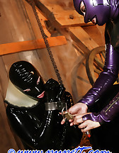Stabled rubber pony girl, pic #9