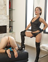 Fucking Her Slave with a Strap-On!, pic #2