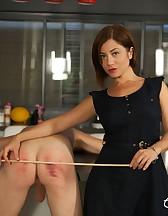 Goddess Ella Kross Canes Her Slave