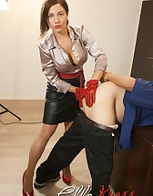 Mistress Ella Kross Makes Her Slave Take a Strap-On!, pic #10