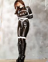 Latex slave in bondage, pic #7