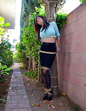 Outdoor bondage, forced orgasms, pic #1
