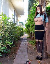Outdoor bondage, forced orgasms, pic #6