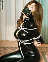 Latex model tied and gagged, pic #3