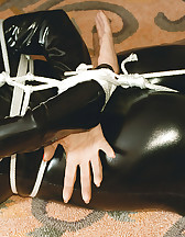 Latex model tied and gagged, pic #6