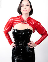Mistress in latex and Ashley Renee, pic #1
