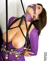 Nylon slut in bondage, pic #8