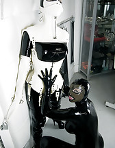 Latex sluts in bondage, pic #7